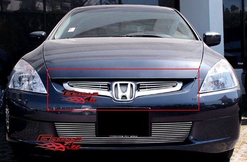 - Fits 2003-2005 Honda Accord Sedan Main Upper Billet Grille Insert #H67103A