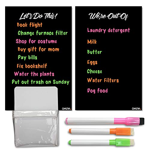 Magnetic Dry Erase Boards for Refrigerator (2 Pieces, 6.25