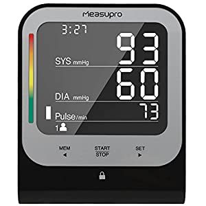 MeasuPro Digital Upper Arm Blood Pressure Monitor with Cuff that Fits Standard and Large Arms, Advanced BP Machine with Heart Rate Detection and Blood Pressure Tracker