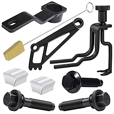 Engine Timming Service Tool Kit with Crankshaft Positioning Tool, Timing Chain Locking Wedge Tool, Cam Phaser Holding Tool, Cam Phaser Lock Out kit and Bolts For Ford 4.6L/5.4L/6.8L 3V Engine: Automotive