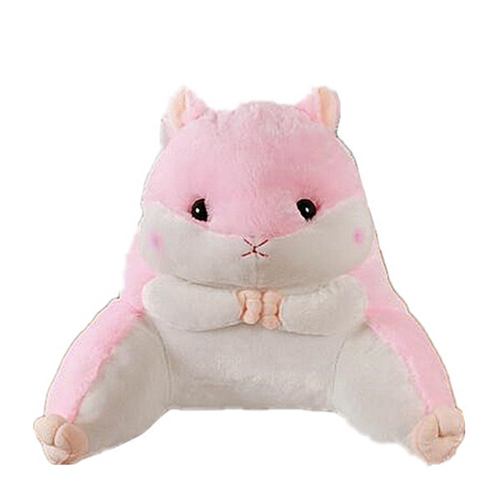 Lovely Hamster Waist Back Pillow Animals Soft Plush Sofa Bed Car Lumbar Cushion (Brown)