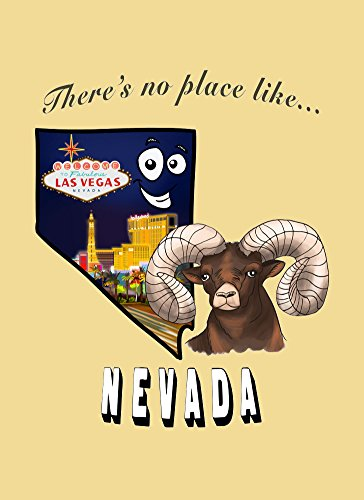 Wizard Of Oz Las Vegas (Rectangle Refrigerator Magnet - There's No Place Like Nevada)
