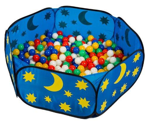 pop up himmlisches Babypool Bällebad Bällepool + 450 bunte TÜV-geprüfte Bälle