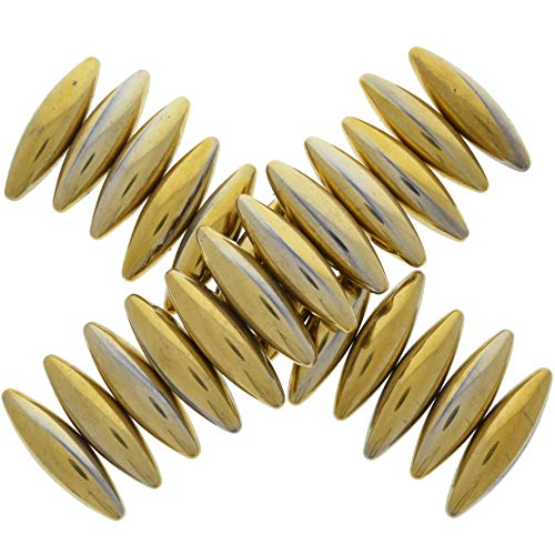 Hypnotic Gems: 50 pcs Large Golden Magnetic Hematite Ovals (2.5 in avg) - Bulk Magnets for Art, Crafts, Fidget Toys, Sticky Stones, Rattlesnake Eggs, Zingers and More!