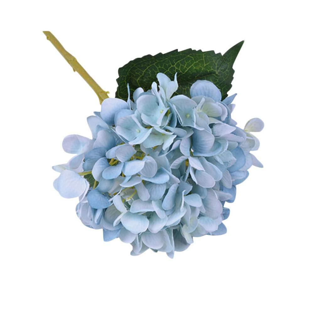 FOONEE Kunstleder Hortensie Blumen, künstliche/Fake Hortensie Blumen Fake Silk Blumenstrauß Hochzeit Arch Blumen, Home Dekoration Orange