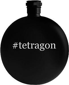 #tetragon - 5oz Hashtag Round Alcohol Drinking Flask, Black