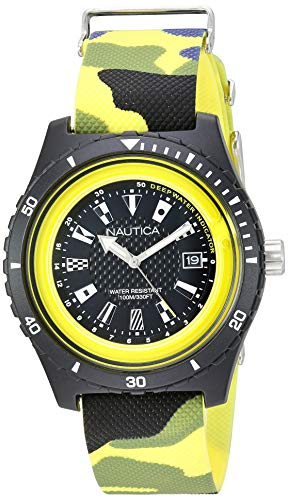 Nautica Men's Surfside Japanese-Quartz Silicone Strap, Multi, 21 Casual Watch (Model: NAPSRF007)