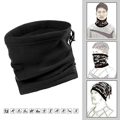 Unisex Ski Mask Neck Warmer, Neoprene Face Mask Winter Cold Weather Face Mask for Motorcycles, Bicycle, Skiing, Running Face Mask,Mountain Climbing - Balaclava Face Masks, jet ski mask (PlainBlack)