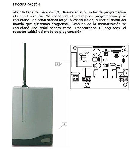 Configuración mando puertas roper modelo NER2DCS