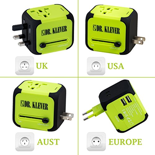 Worldwide Travel Adaptor, International Travel Adapter Comes With 2 USB...