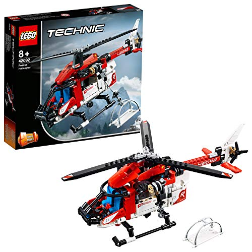 LEGO Technic Rescue Toy Helicopter, 2 in 1 Model, Concept Plane, Kids Construction Set