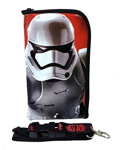 [Disney Star Wars Storm Trooper Lanyard ID Holder Cute Design Black] (Stormtrooper Disney)