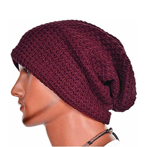 Perman Knit Ski Skullies Beanie Beret Winter Warm Skull Slouchy Cap Hat for Women  Men ( 3e0ab124d6d1