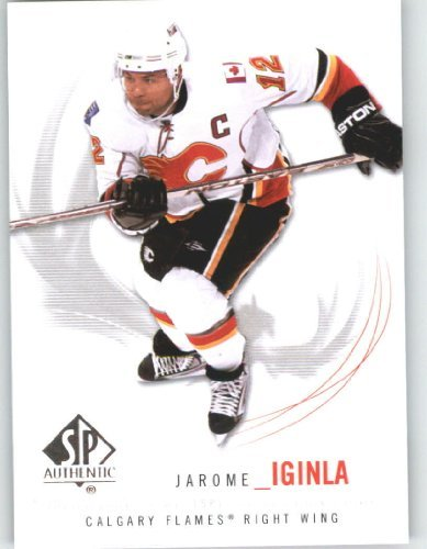 2009-10 (2010) Upper Deck SP Authentic Hockey Card # 96 Jarome Iginla - Flames - NHL Trading Card
