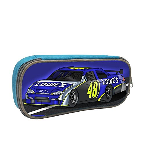 Grrry Yellow Blue No.48 Race Car 3D Printing Zipper/Pencil/Pen Bag Case Stationery ()