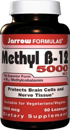 Jarrow Formulas méthylcobalamine (méthyl B12), 5000mcg, 60 Pastilles