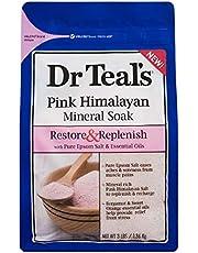 Dr Teal's Restore & Replenish Pure Epsom Salt & Essential Oils Pink Himalayan Mineral Soak, Orange, 3 lb