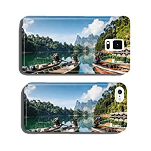 Long tail boats on lake, Khao Sok National Park cell phone cover case iPhone5
