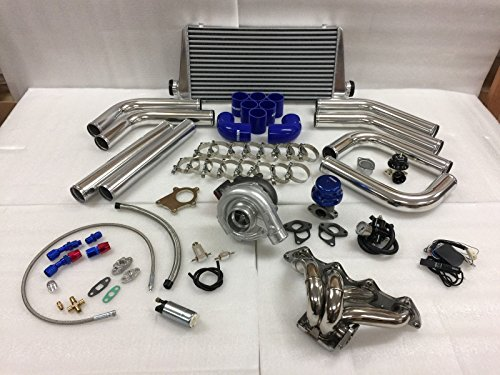 Civic B Series B16 B18 B20 ZC T3T4 .63 Turbo Kit Stainless Steel Manifold (Acura Integra Turbo Kits)