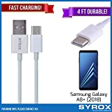 Syrox 50-Pack USB Type-C Cable, Reversible 4 ft Ultra Durable Fast Charging for Samsung Galaxy A8+ (2018), Samsung Galaxy Note 8, S8+, LG V30, V20, G6, G5, Google Pixel, 6P, Nintendo Switch and All