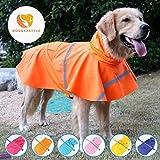 MINHUNG Large Dog Raincoat Labrador Retriever Pet Dog Clothes Reflective Waterproof Raincoat (XS)