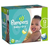 pampers dry size 3 - Pampers Baby-Dry Disposable Diapers Size 3, 204 Count, ECONOMY PACK PLUS (Packaging May Vary)