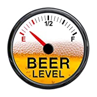 215 Decals Beer Meter Gauge Vinyl Sticker Decal - Funny Warning Cooler Refrigerator Keg