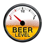 Beer Meter Gauge Vinyl Sticker Decal - Funny Warning Cooler Refrigerator Keg