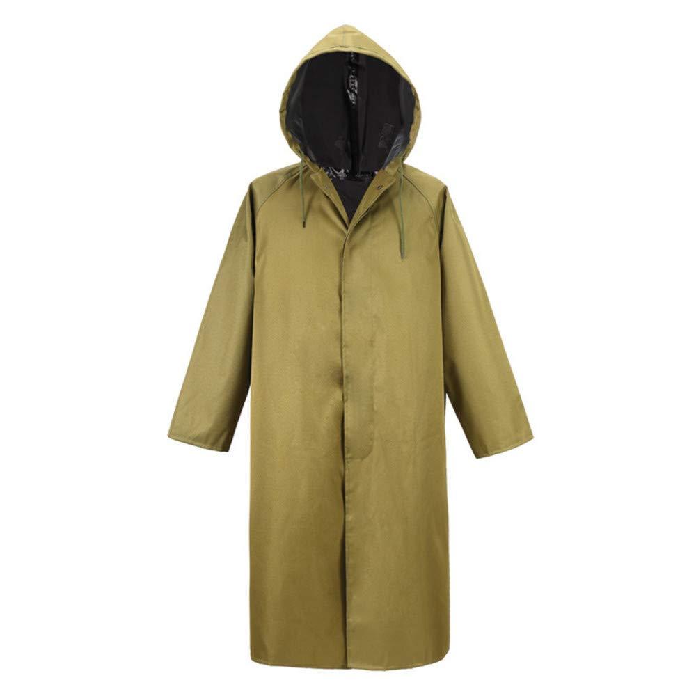 A XXL HONG-Rain Poncho imperméable de randonnée en Plein air imperméable résistant à l'usure