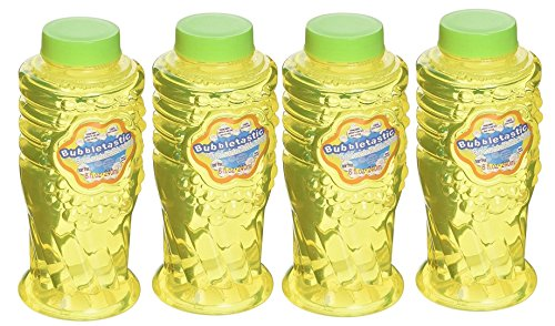 Bubbletastic Dog Bubbles Bacon Bubbles for Dogs - 4 Bottles - 8oz Each - Includes Wands! - Happy Dog Bubble