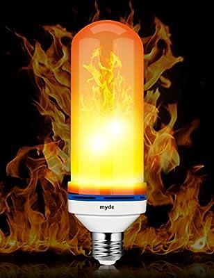 LED Flame Effect Light Bulb, 7 Inch E26 Flame LED Bulb, 1300K True Fire Color Simulated Decorative Light Atmosphere Lighting Vintage Flaming LED Light Bulb for Christmas Decoration