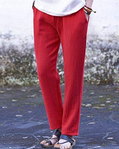 Donna Pantaloni Grazioso Dritti Nahen Tempo Fashion Pantaloni Rot Stoffa Trousers Women Libero Eleganti Monocromo Taille Pantaloni Estivi Giovane Di Pantalone Anaisy Lunga dwO7xAfdq