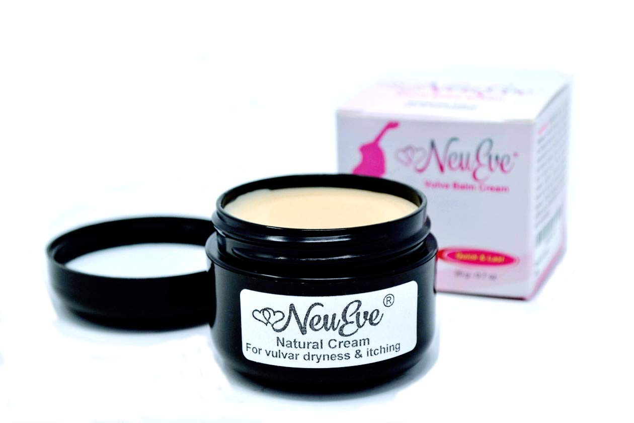 NeuEve® Vulva Balm Cream - Hormone Free - Safely Relieves Vaginal Dryness, Painful Sex, Itching & Odor - 100% Natural Moisturizer, Lube & Deodorant (Refrigerate Before Use in Hot Weather) by NeuEve