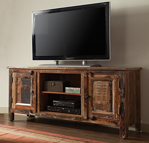 Coaster Home Furnishings Handcrafted TV Console Reclaimed Wood - Includes One solid TV stand Polished piece in absolute new condition Can be placed in sitting room or living room. - tv-stands, living-room-furniture, living-room - 51QqrWEw2oL -