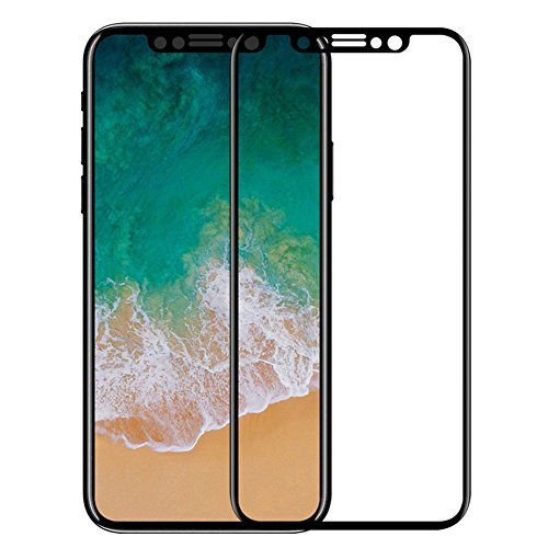 HONTECH iPhone X Screen Protector 5D Curved Full Coverage HD Tempered Glass For Apple iPhone X
