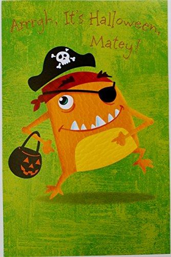 Arrrgh It's Halloween Matey! Yo-Ho-Ho Pirate Greeting Card -