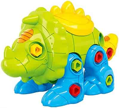 CAILLU triceratops Dinosaur stem Toy,Dinosaur Take Apart stem green Toys,DIY Learning Toys,Dinosaur Fun,Construction Engineering Building Play Set For Boys Girls,Best Toy Gift Kids Ages 4 and up10