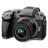 Panasonic LUMIX DMC-G7KS DSLM Mirrorless 4K - Camera, 14-42 mm Lens Kit, plateado