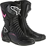 Alpinestars SMX-6 V2 Vented Women's Street Motorcycle Boots - Black/Pink/White / 40