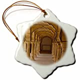3dRose Danita Delimont - Architecture - Asia, India, Rajasthan, Jaipur, Amber Fort. Arches - 3 inch Snowflake Porcelain Ornament (orn_276776_1)