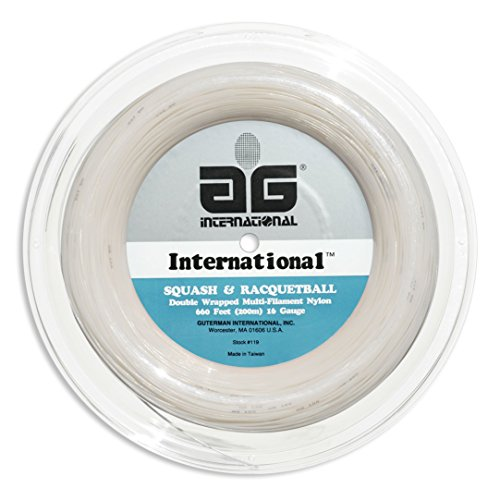 AG International Nylon Squash and Racquetball String Reel-White