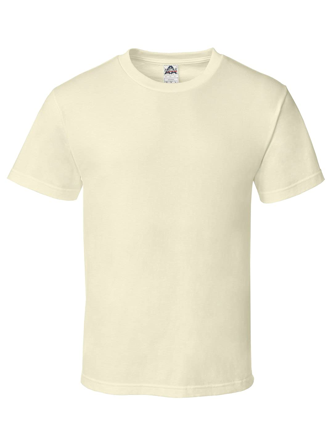 Alstyle Apparel AAA Mens Classic Cotton Short Sleeve T-Shirt Athletic Heather Gray 5XL