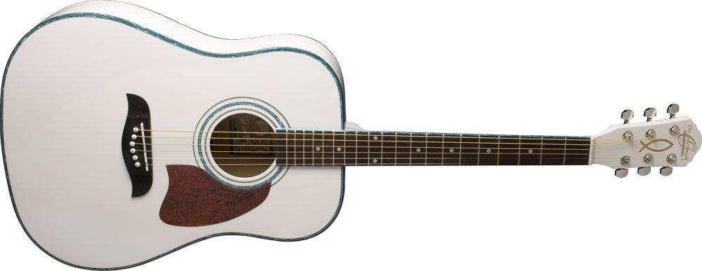 Oscar Schmidt OG2WH-A-U Acoustic Dreadnought Size Guitar White