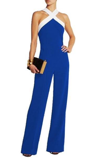 uk availability b7d73 af59a emmarcon Tuta con Pantaloni Lungo Vestito Abito Cerimonia da Donna Elegante  Casual Party
