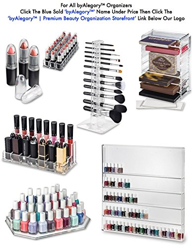 Limited-Offer-Gift-Set-Acrylic-Lipstick-Acrylic-Lip-Gloss-Organizer-Beauty-Care-Holder-Gift-Set-Provides-24-Space-Storage-Per-Organizer-48-Space-Total-Storage-byAlegory-Clear