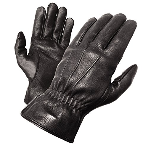 Olympia 140 Deerskin I Classic Motorcycle Gloves (Black, X-Large)