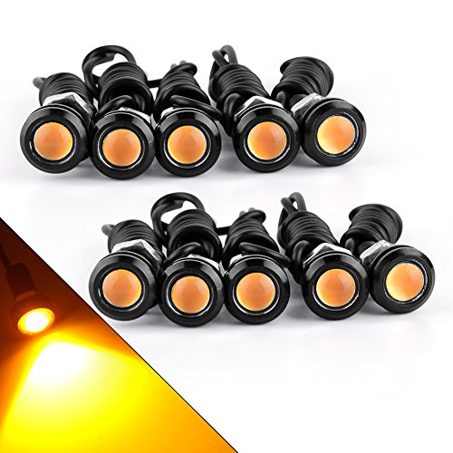 Accessories Automobiles & Motorcycles 10x 9w 12v Car Led 18mm Eagle Eye Daytime Running Drl Tail Light Backup Lamp