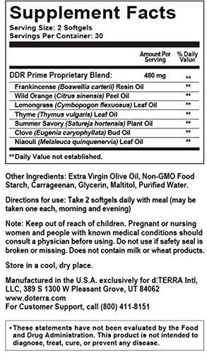 Doterra Ddr Prime Essential Oil Softgels 60 Count