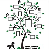 Haihuic 3D Wall Decals Family Trees DIY Wall Stickers with Quotes and Photo