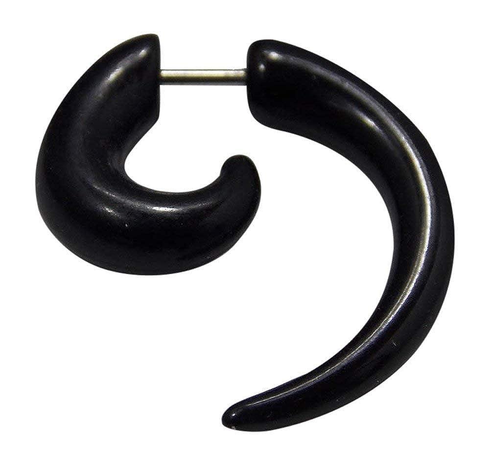 Espiral extensor falso para la oreja de UV acrílico negro con una ...